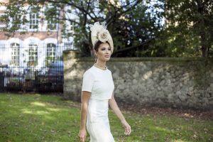 Cara Meehan white rose hat
